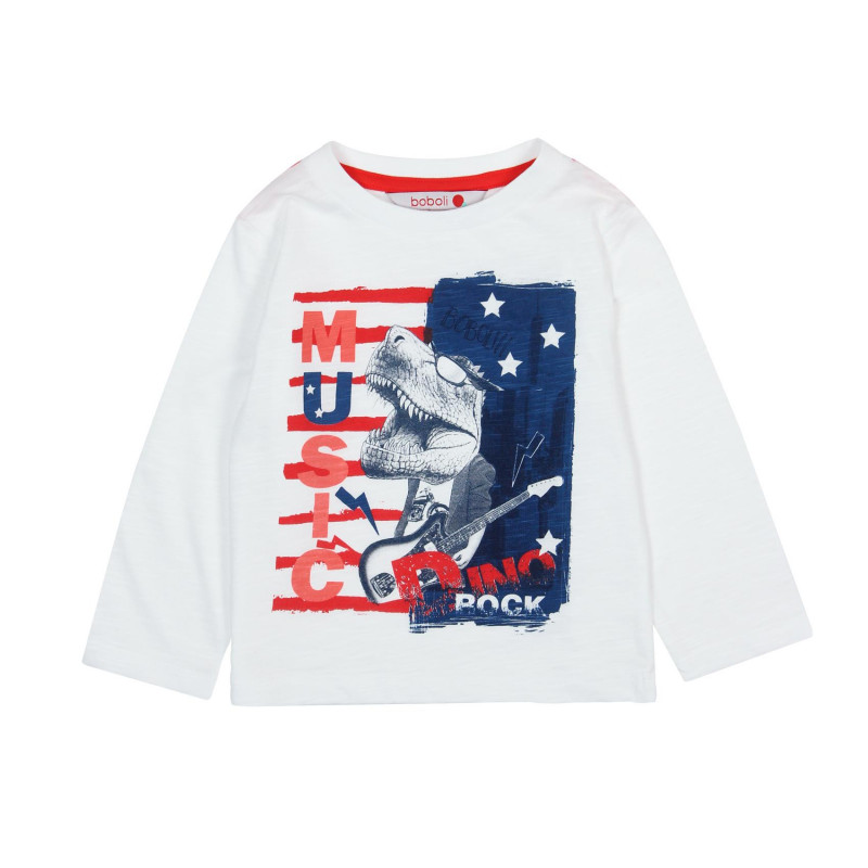 928be26af Boboli Knit t-Shirt flame for baby boy ΜΠΛΟΥΖΑ ΛΕΥΚΟ 29-327114