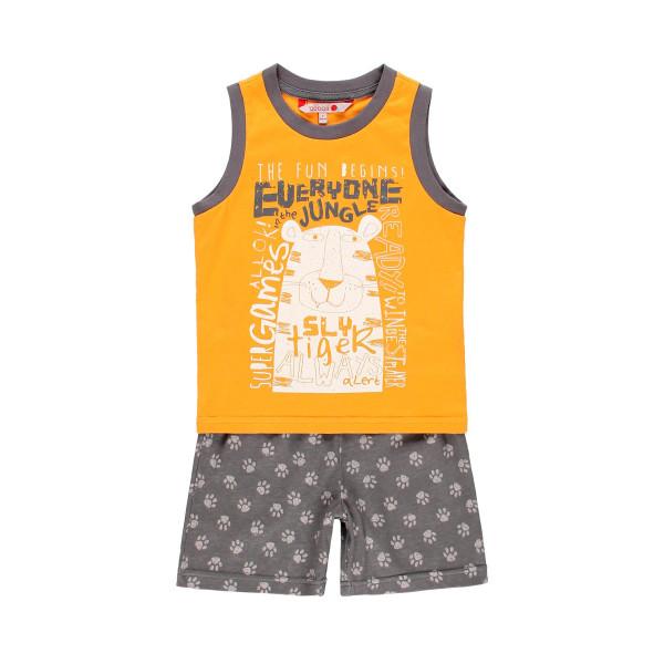 Knit pyjamas for boy Πιτζαμες YELLOW-ORANGE 20-939023