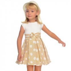 90a403609c2 Mayoral Φορεμα πουα συνδυασμενο ωχρα 29-03938-084 3938