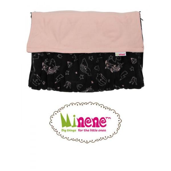 Minene Ποδόσακος Black Pink Unicorn