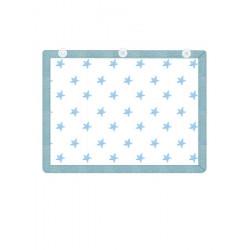 Minene Υφασμάτινη Ηλιοπροστασία Αυτοκινήτου με UV προστασία Γαλάζια Αστέρια 21354