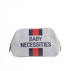 CHILDHOME Νεσεσέρ Baby Necessities Canvas Grey Stripes Red/Blue BR73465
