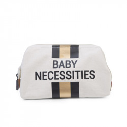 CHILDWOOD by CHILDHOME Νεσεσέρ Baby Necessities Canvas Off White Stripes Black/Gold BR73466