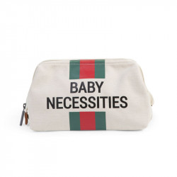 CHILDHOME Νεσεσέρ Baby Necessities Canvas Off White Stripes Green/Red BR73467
