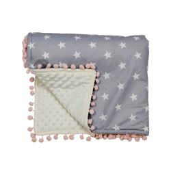 Bebe Stars Κουβέρτα fleece με pom-pom Stars 3073