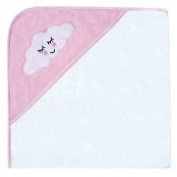 Kikka Boo Μπουρνούζι-Πετσέτα μπάνιου 80/80 cm Sleepy Cloud pink 31104010020