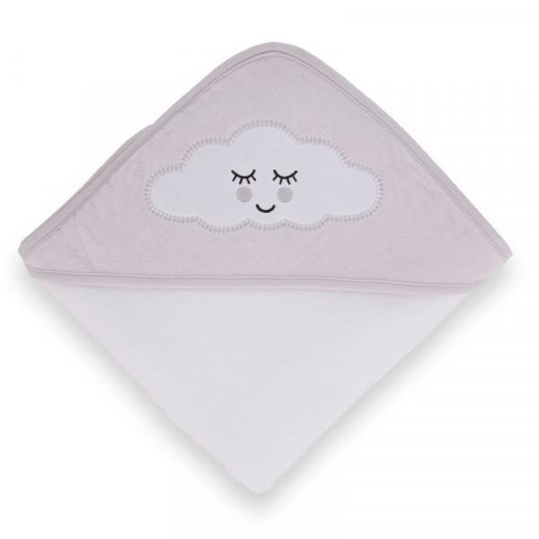 Kikka Boo Μπουρνούζι-Πετσέτα μπάνιου 80/80 cm Sleepy Cloud Grey 31104010022
