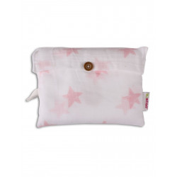 Minene Μεγάλη μουσελίνα ροζ αστέρια 21301