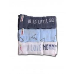 Minene Πάνα Μουσελίνα Mommy/Daddy σιέλ-μπλε-άσπρο 21380