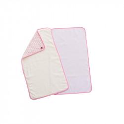 BabyToLove Πετσέτα (set of 2) Αλλαγής μωρού 'Pink Heart'
