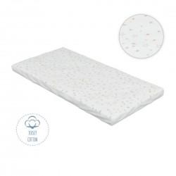 Kikka Boo Βαμβακερό επίστρωμα κρεβατιού με αδιάβροχη επένδυση 70*1.40 Stars