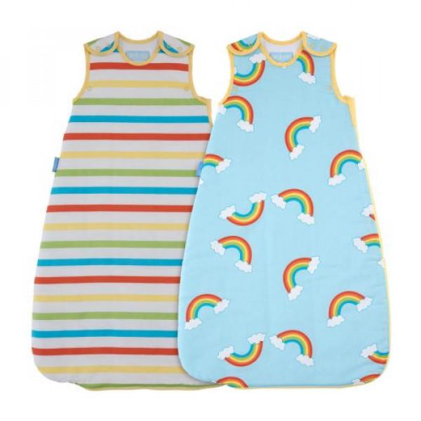 GroBag Πακέτο 2 Υπνόσακοι 1 tog ανοιξιάτικος 6-18 μηνών Rainbow Stripe wash and wear AAA5787