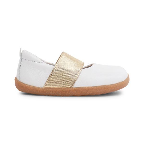 Bobux: Step up Demi Ballet White 728806