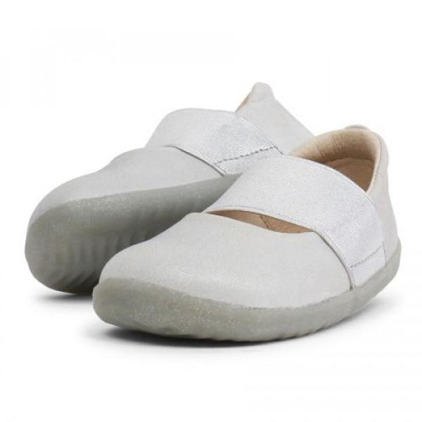 Bobux: Step up Demi Ballet Silver Shimmer 728808