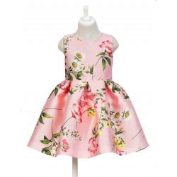 Abel & Lula Φόρεμα Μικάδο Σταμπωτό Αμάνικο Ροζ 21-05039-003