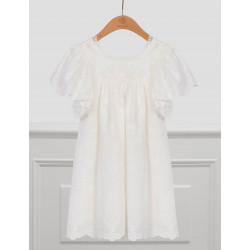 Abel & Lula Φόρεμα Βατίστα Κεντητή Λευκό 21-05005-026