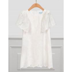 Abel & Lula Φόρεμα Κεντητό Φοδραρισμένο Λευκό Σπασμένο 21-05033-003