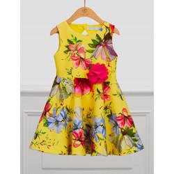 Abel & Lula Φόρεμα σταμπωτό λουλούδια Κίτρινο 21-05037-004