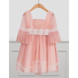 Abel & Lula Φόρεμα Τούλι Ροζ Απαλό 21-05022-043