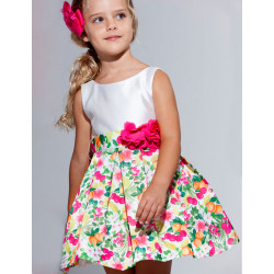 Abel & Lula Φόρεμα Μικάδο Σταμπωτό με Λουλούδια Φούξια 21-05027-006