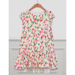 Abel & Lula Φόρεμα Σταμπωτό Φούξια 21-05028-006