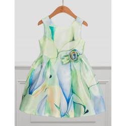 Abel & Lula Φόρεμα Mikado Σταμπωτό Πράσινο 21-05034-036