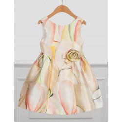 Abel & Lula Φόρεμα Mikado Σταμπωτό Ροζ Απαλό 21-05034-037