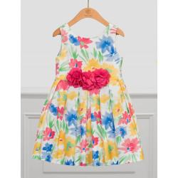 Abel & Lula Φόρεμα Σταμπωτό με Λουλούδια Κίτρινο 21-05035-004
