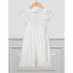 Abel & Lula Φόρεμα Κρεπ Λευκό Σπασμένο 21-05046-003