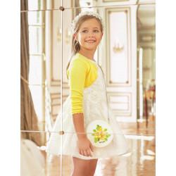 Abel and Lula Φορεμα τουλι κεντητο Λευκό 29-05042-001 5042