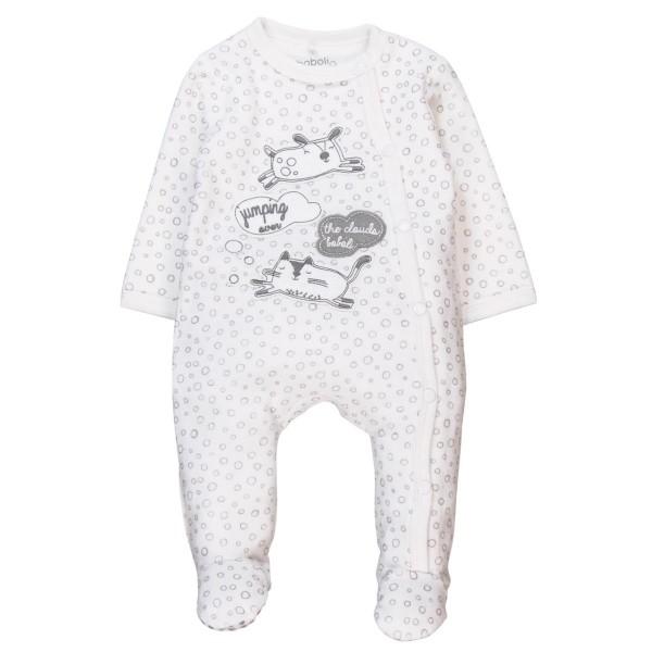 Boboli Velour play suit for baby girl print