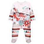 Boboli Interlock play suit for baby girl off white