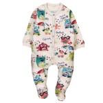 Boboli Fleece play suit for baby print