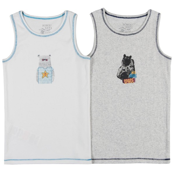 Boboli Pack 2 t-Shirts for boy - off white