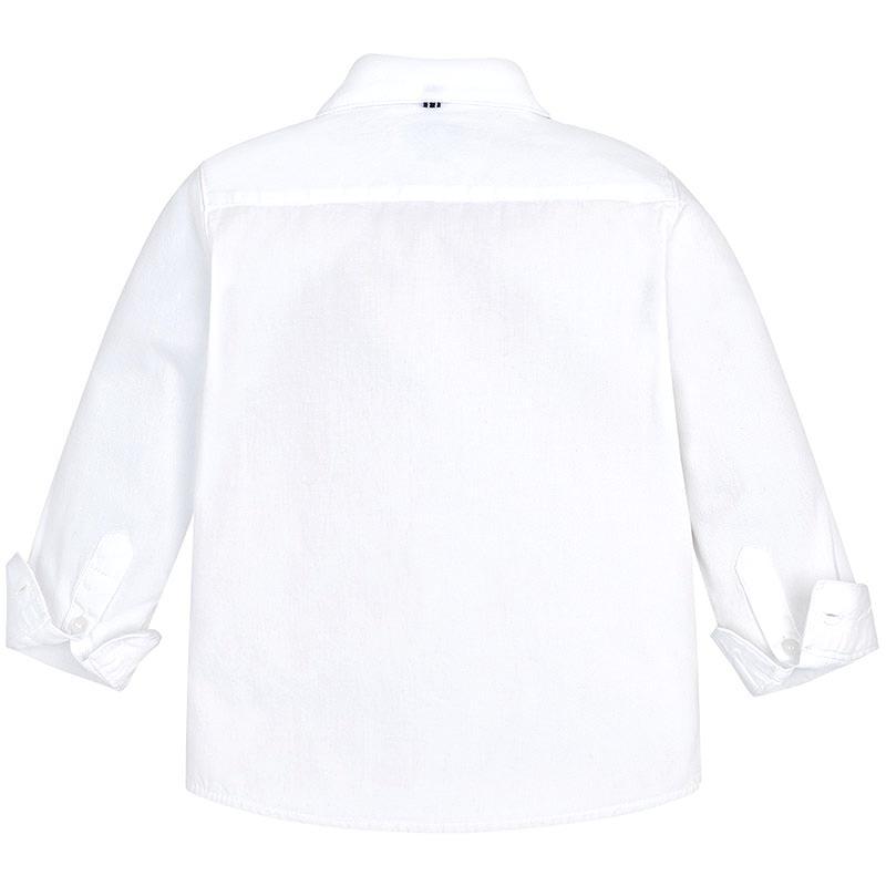 Mayoral Πουκάμισο μακρυμάνικο βασικό λευκό 18-00146-049 146 bbe30502266
