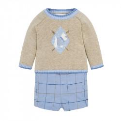 18190f8b596 Mayoral Σετ παντελόνι κοντό και ζέρσεϋ για μωρό αγόρι Sky 18-02208-073 2208