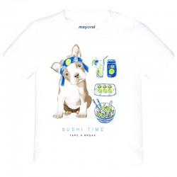 Mayoral Μπλουζα κοντομανικη σκυλακι λευκο 28-01044-039 1044 3513ebaf186