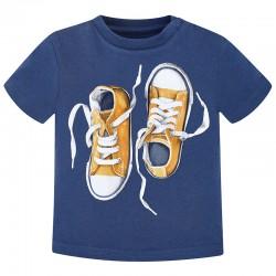 Mayoral Μπλουζα κοντομανικη παπουτσια γαλανο 28-01048-038 1048 91bda2e6c69