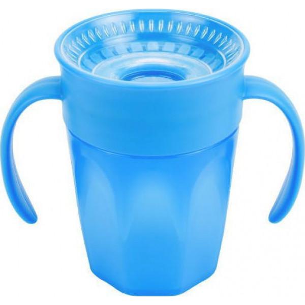 Dr Brown s Κύπελλο με λαβες Cheers 360, Μπλε 200 ml 6m+