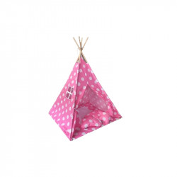 Baby Adventure Σκηνή Teepee Pink Dots BR75044