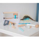 Jabadabado Ξύλινο βαλιτσάκι με εργαλεία Γκρι JB-W7105