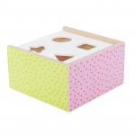 Jabadabado Ξύλινο κουτί με σχήματα πολύχρωμο JB-W7149