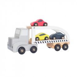 Jabadabado Ξύλινο Φορτηγάκι μεταφοράς αυτοκινήτων JB-W7152