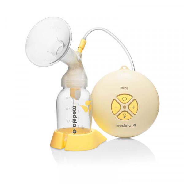 Medela Swing Ηλεκτρικό Θήλαστρο Δύο Φάσεων Ρεύματος/Μπαταρίες & Δώρο Την Ειδική Θηλή Σίτισης Calma.