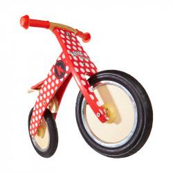 Kiddimoto Ποδήλατο ισορροπίας KURVE Red Dotty
