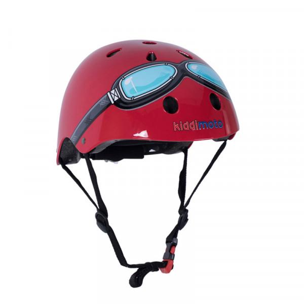 Kiddimoto Κράνος Red Goggles