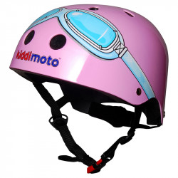 Kiddimoto Κράνος Metallic Pink Goggles