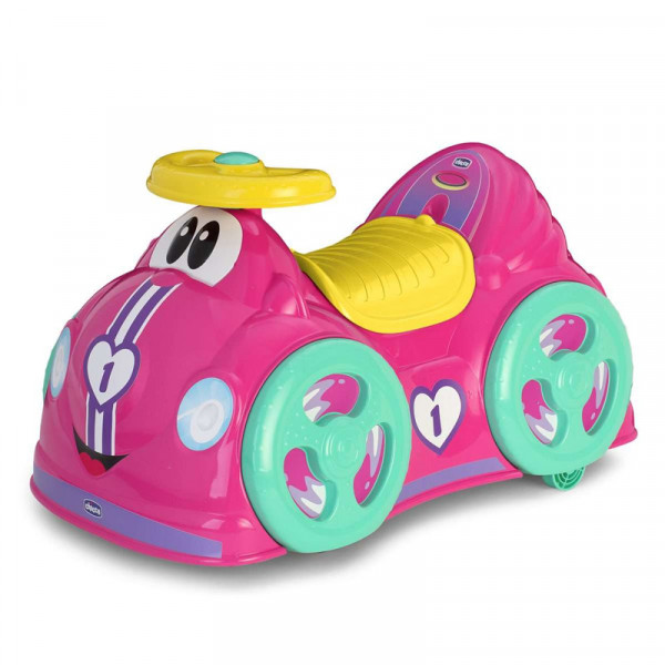 Chicco Αυτοκινητάκι Περπατούρα Γύρω Γύρω Όλοι Ροζ 07347-01